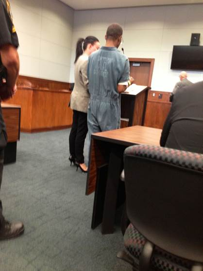 Chrissy and Client in Court
